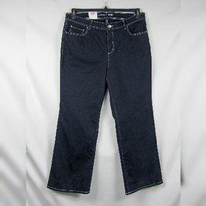 INC Wide Leg Tummy Control Jeans Dark Plus Sz 18W